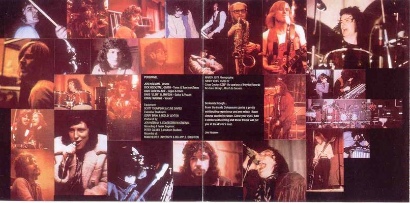 Colosseum Live 1971: inside cover